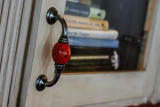B's bookcase door pull
