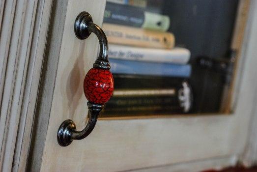 B's bookcase door pull