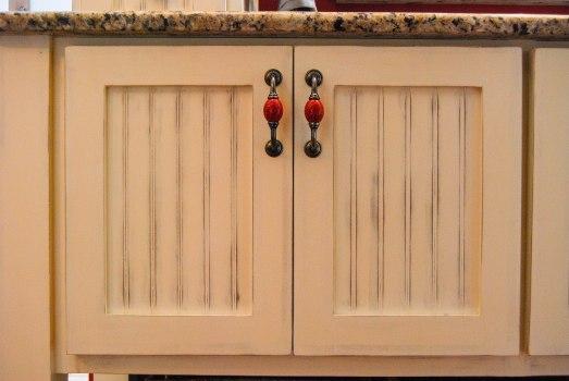 B's cabinet doors